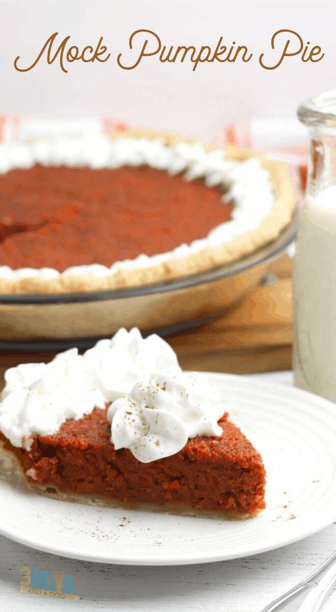 carrot pie dessert recipe to replace pumpkin pie