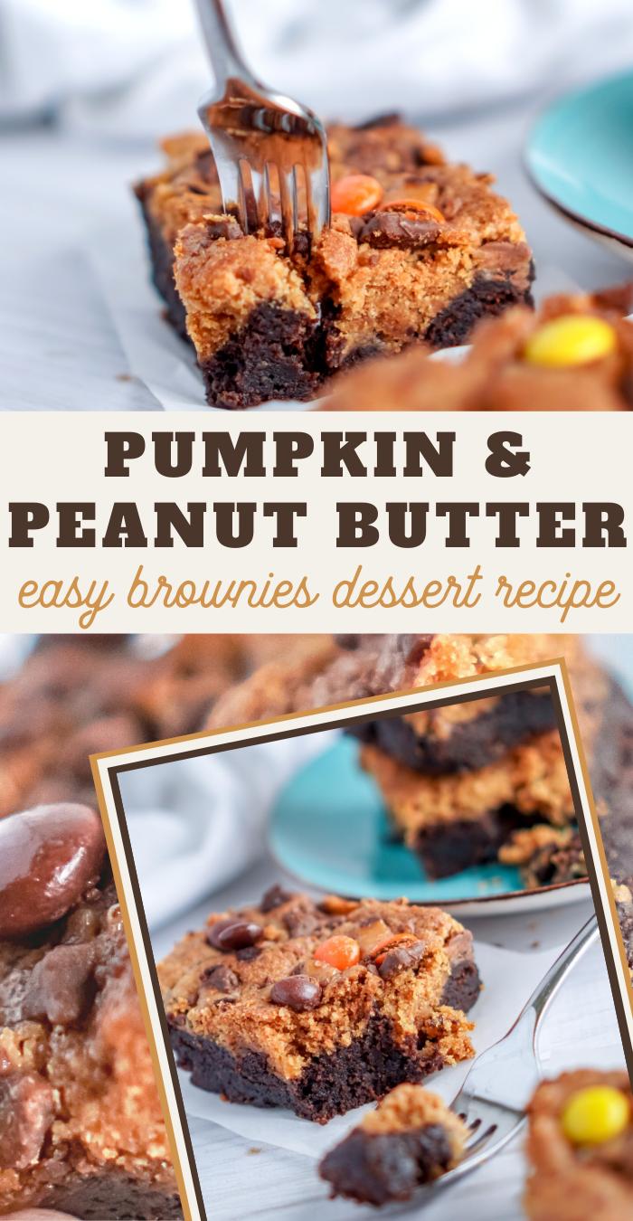 Insanely Easy pumpkin peanut butter brownies recipe