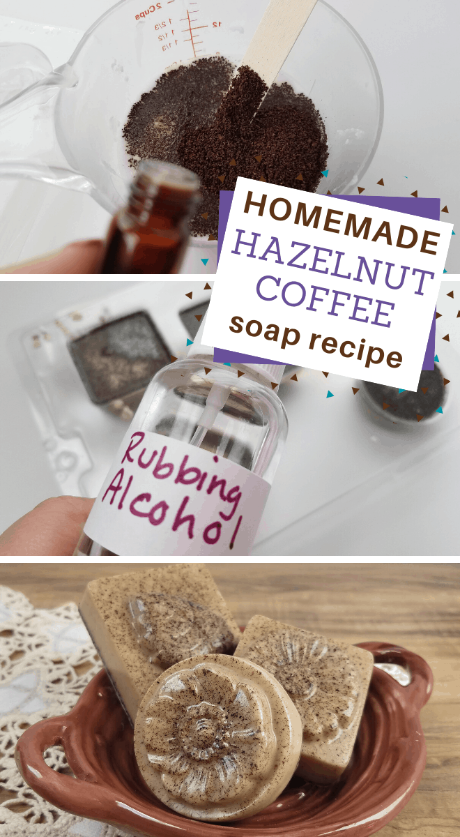homemade hazelnut coffee soap