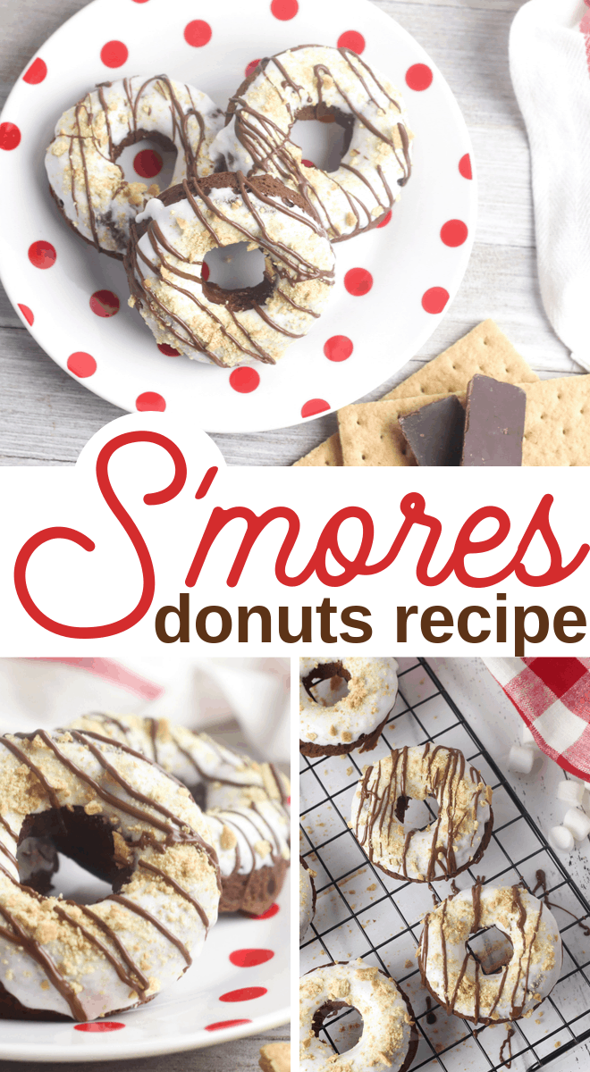 smores doughnuts made from scratch