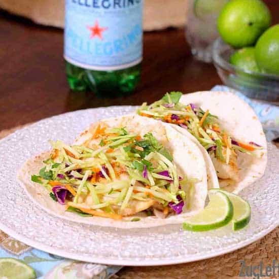 Fish Tacos With Curried Broccoli Slaw