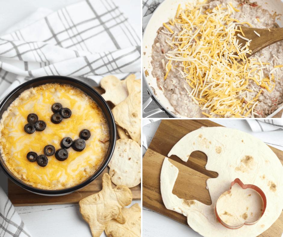 halloween jack-o-lantern queso recipe