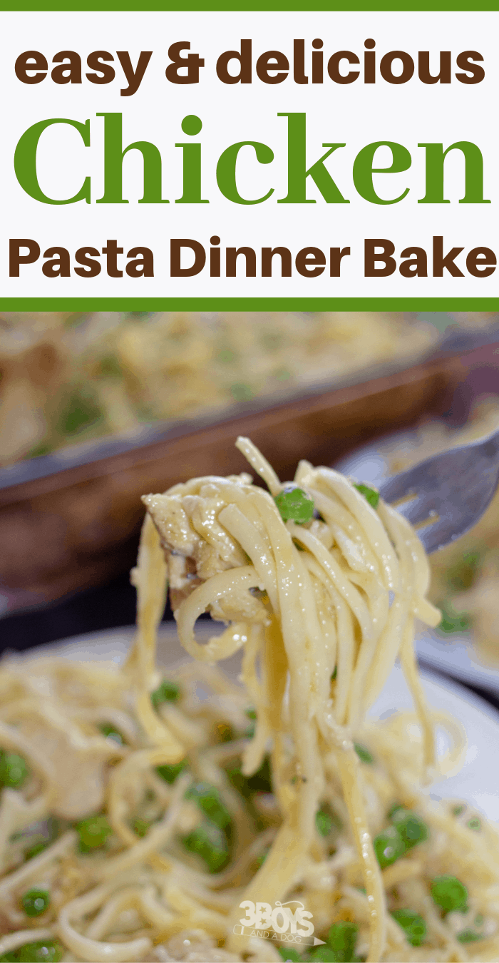 easy and delicious chicken pasta casserole