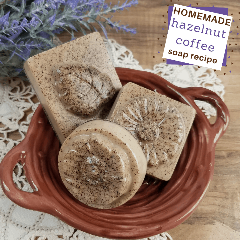 hazelnut and coffee soap diy recipe