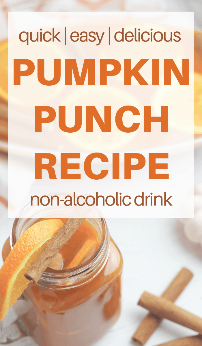 alcohol free Pumpkin Punch Mocktail recipe