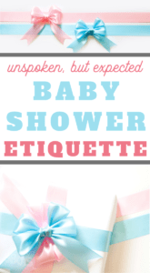 unspoken etiquette for baby showers these days