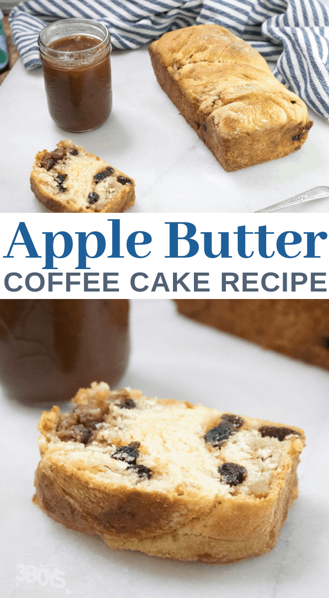 homemade apple butter coffee cake for breakfast or dessert