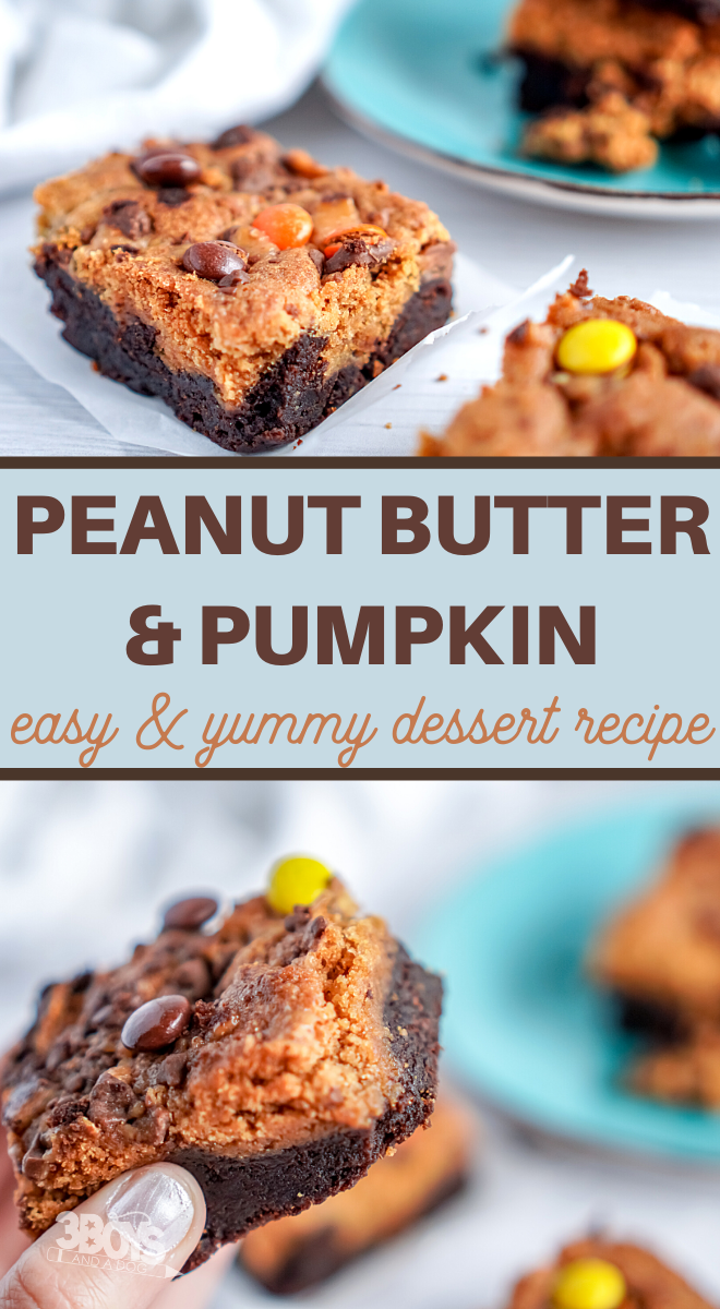 delicious brownies are layered with a pumpkin and peanut butter blondies recipe