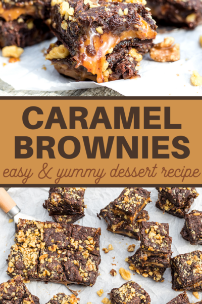 delicious brownies are filled with ooey gooey salted caramel