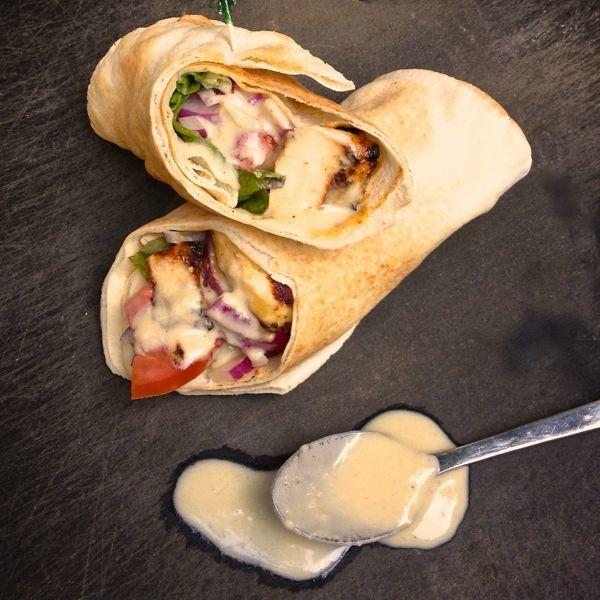 Chicken Shawarma Pita with Tahini Garlic Sauce - The Lemon Bowl®
