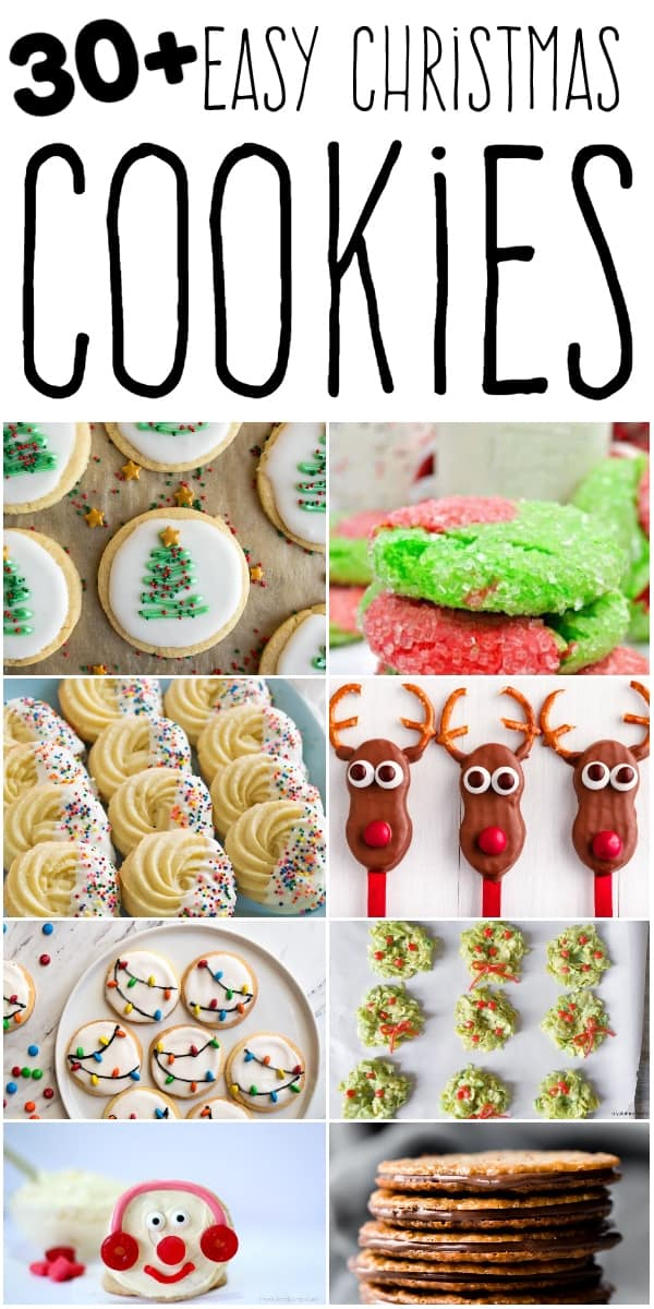 Photo collage of the best easy Christmas Cookies