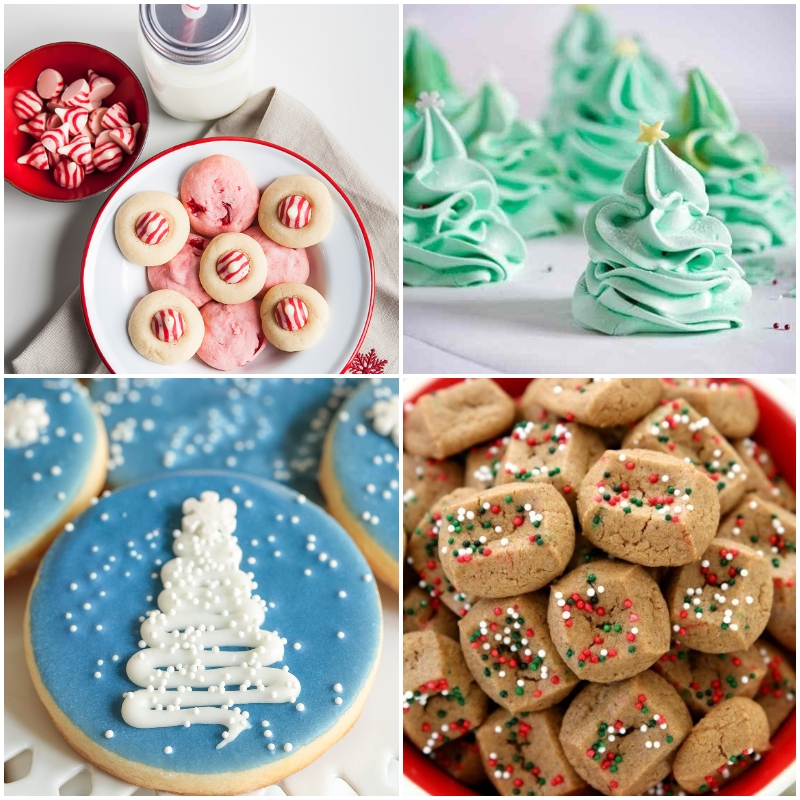 Photo collage of simple Christmas cookies