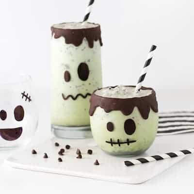 Easy Frankenstein Halloween Milkshakes