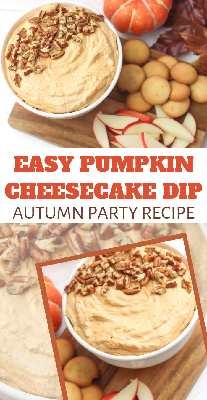 Fall Cream Cheese Dip with Pumpkin Puree for dessert or snack