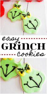 Easy Grinch Christmas cookies recipe