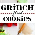 How to make Grinch flood cookies for a holiday party