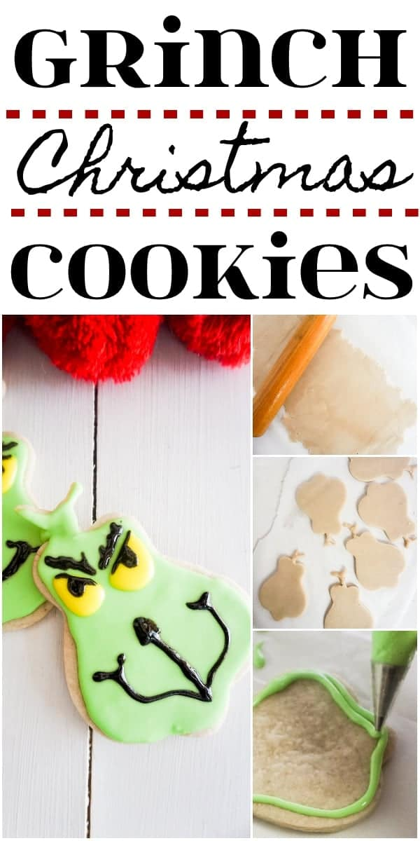 Easy Grinch cookies for a Cookie Exchange Party