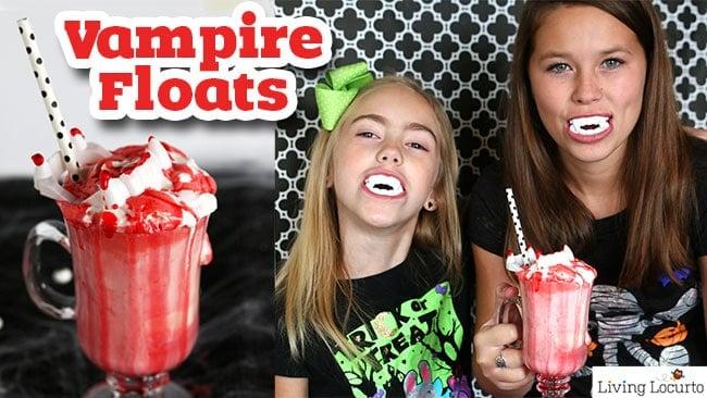 Vampire Ice Cream Floats