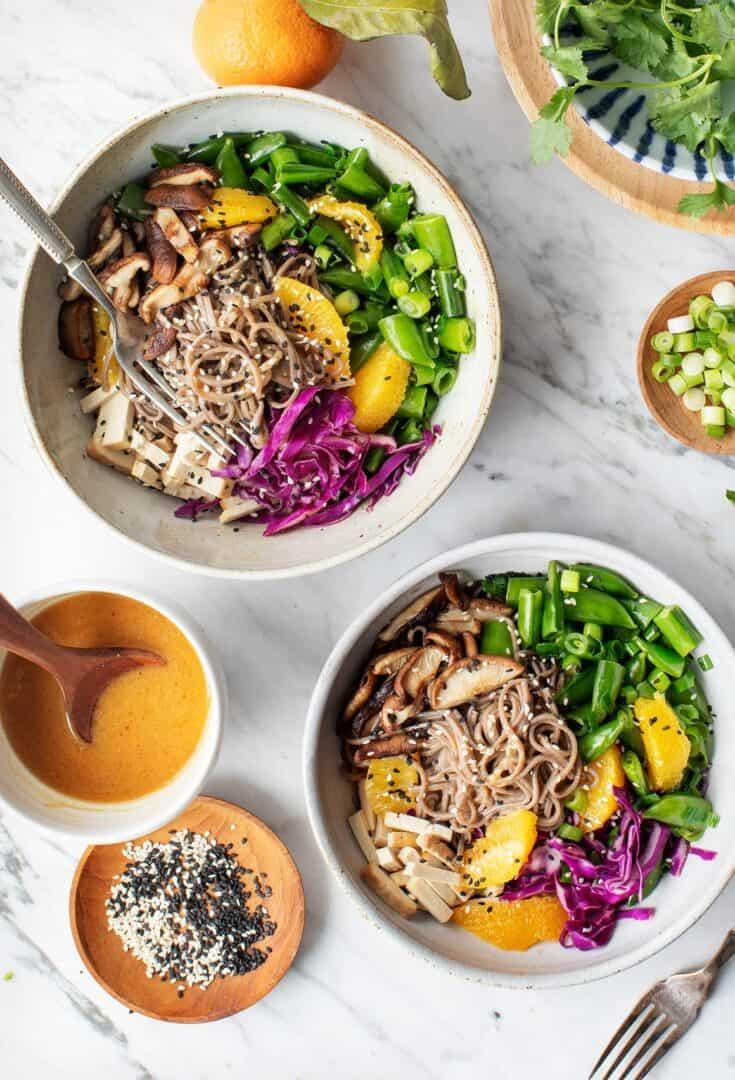 Sesame Orange Noodle Bowl