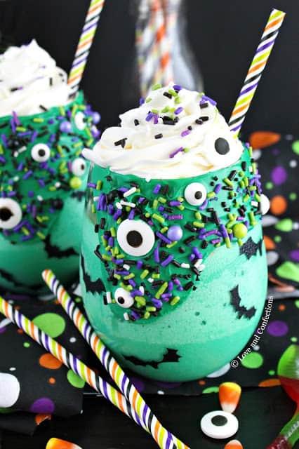 Halloween Green Monster Milkshakes