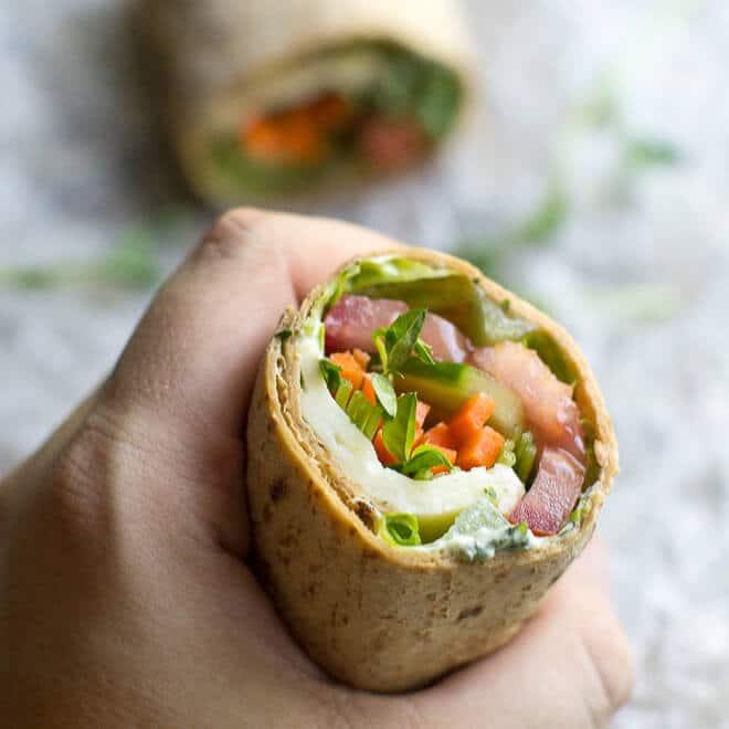 Ultimate Veggie Wrap Recipe | Culinary Hill