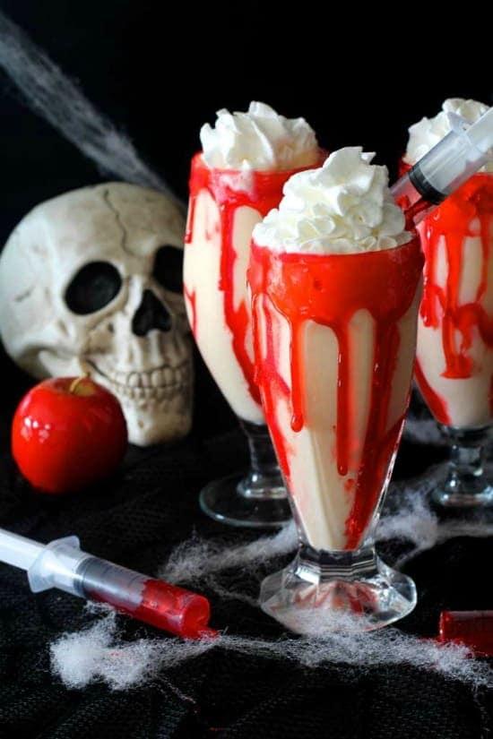 Vampire Apple Pie Milkshakes