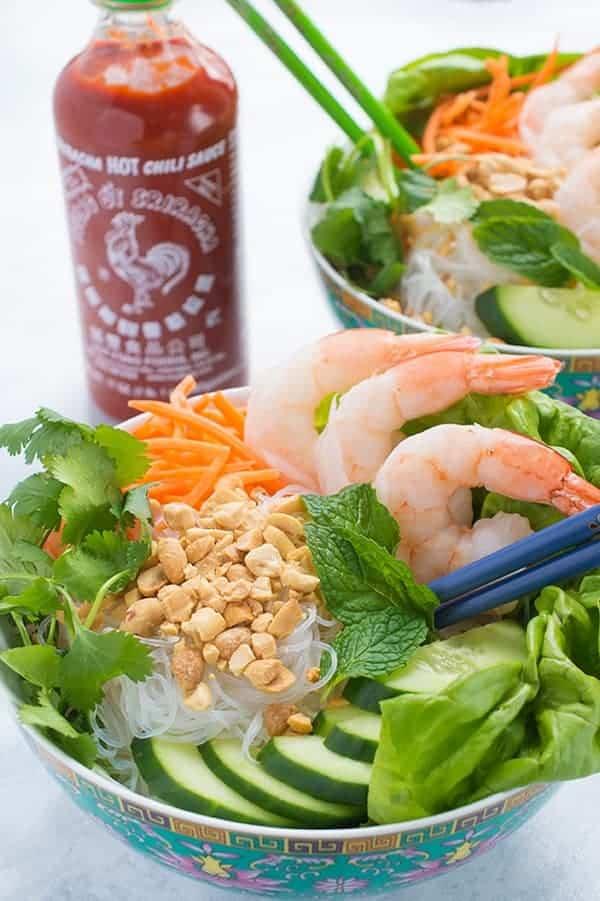 Vietnamese Shrimp Noodle Bowl