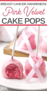 pink breast cancer awareness cake pops recipe