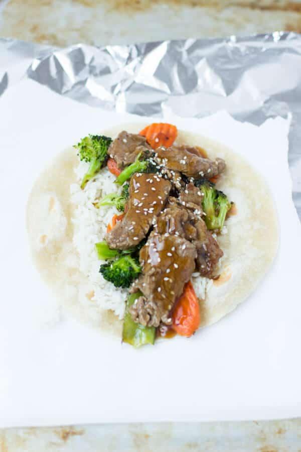 Teriyaki Beef Wrap
