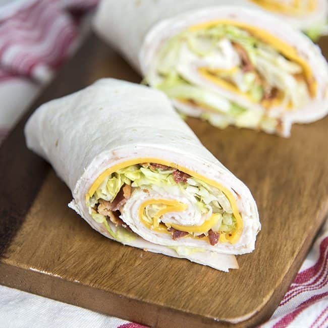Turkey Bacon Ranch Wraps - Like Mother Like Daughter
