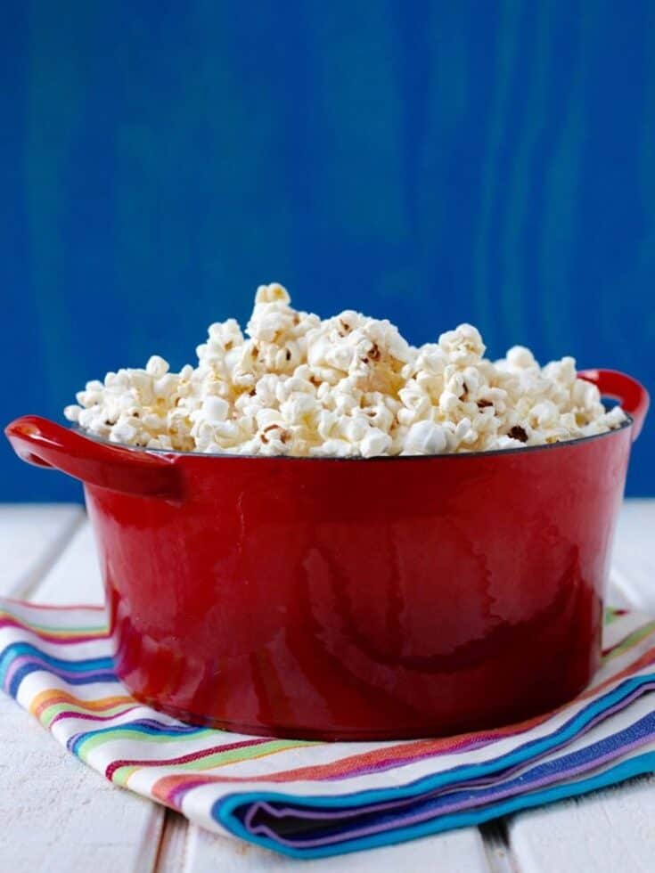 Cheesy Coconut Popcorn