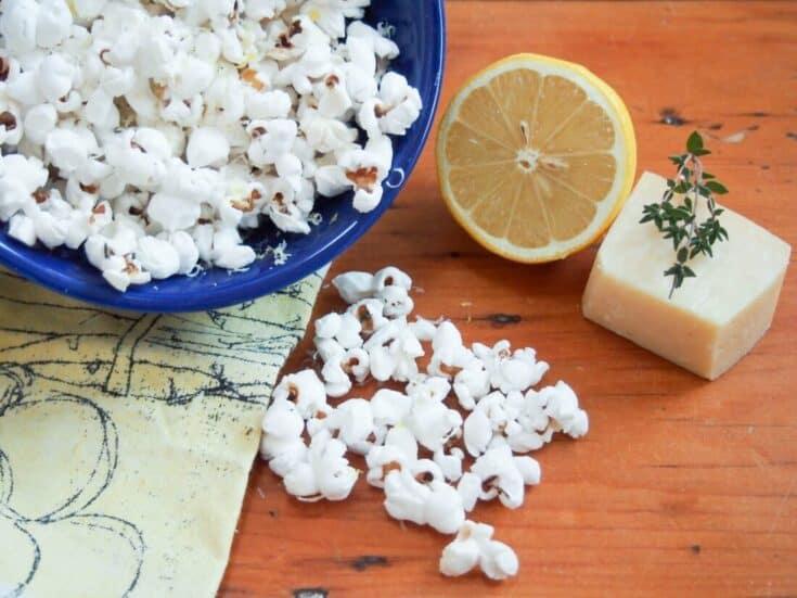 Parmesan popcorn with lemon & thyme