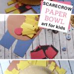 your preschooler can make this easy scarecrow art