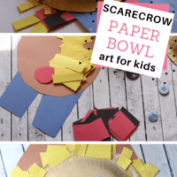 Scarecrow Paper Bowl Art Project
