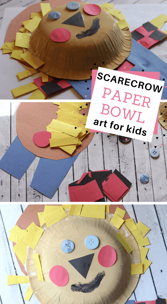 your preschooler can make this easy scarecrow art