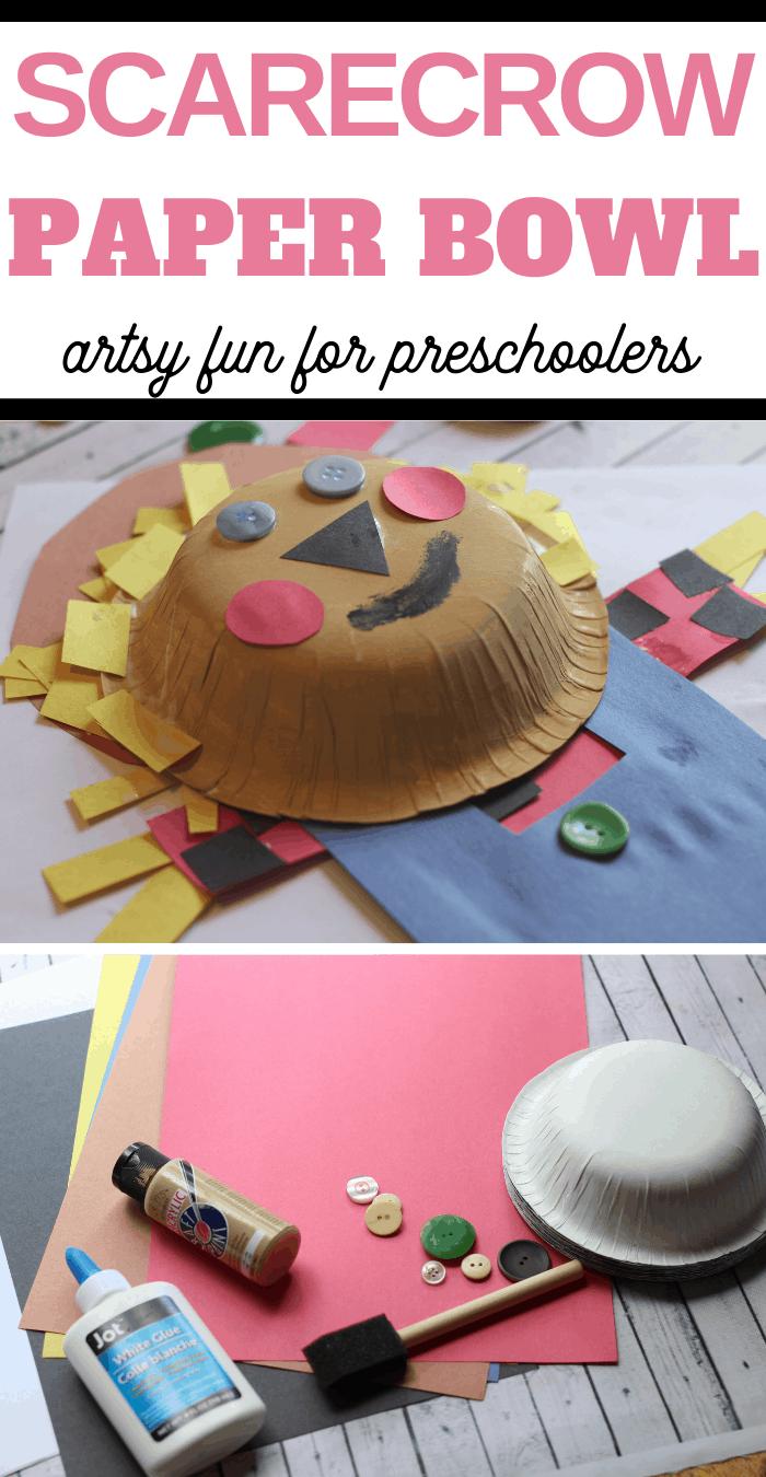 Fall Activity Scarecrow Build a Bowl art