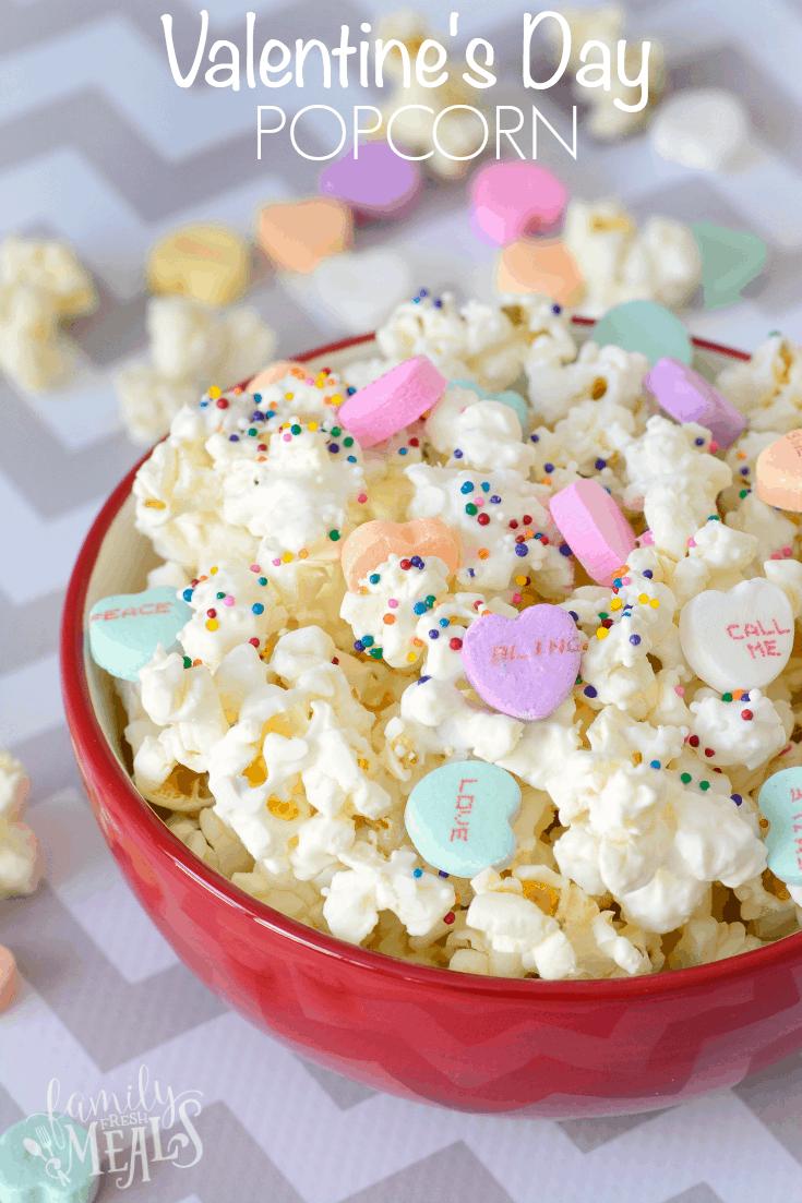 Conversation Heart Popcorn