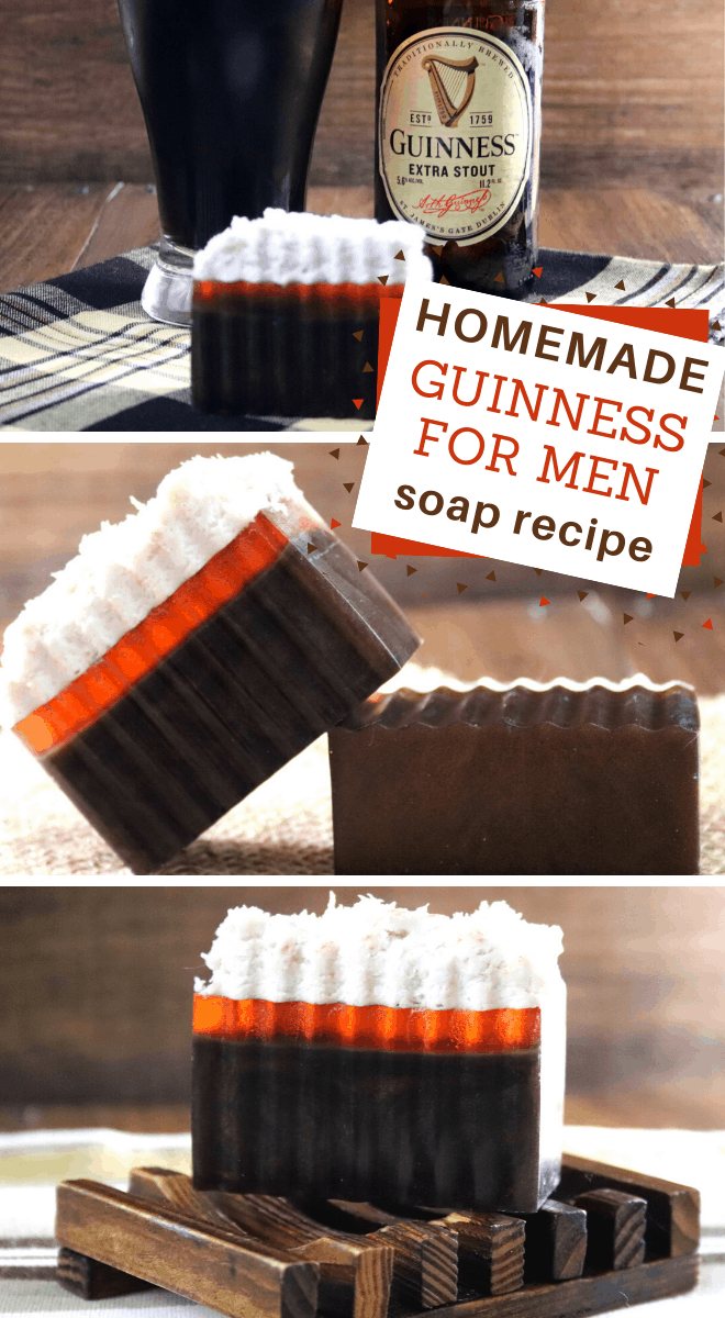 homemade Guinness for Men layered soap recipe
