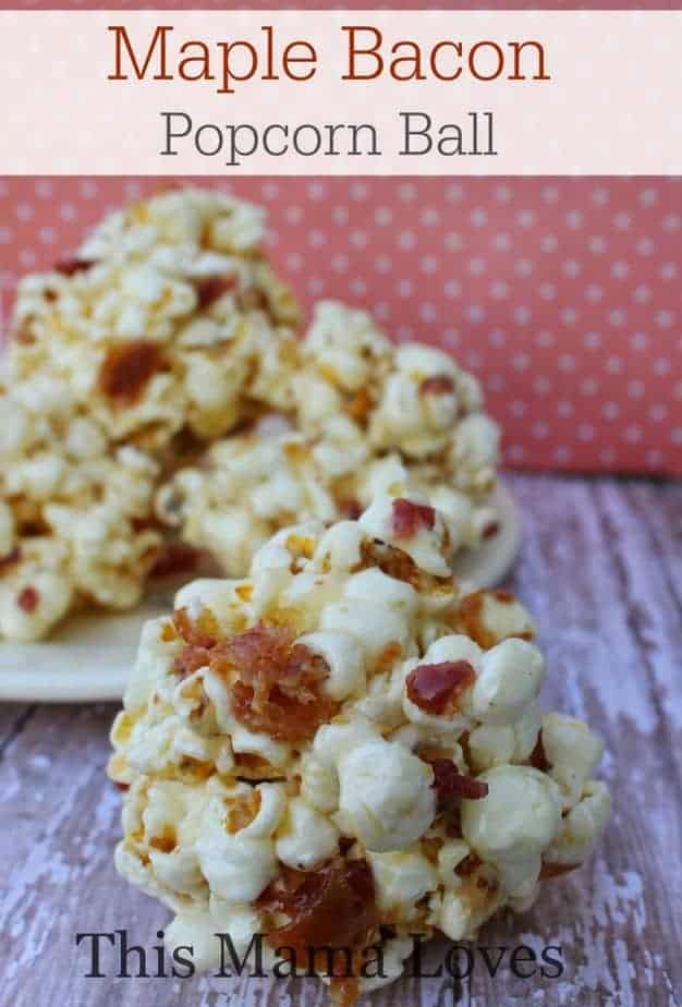 Maple Bacon Popcorn Balls