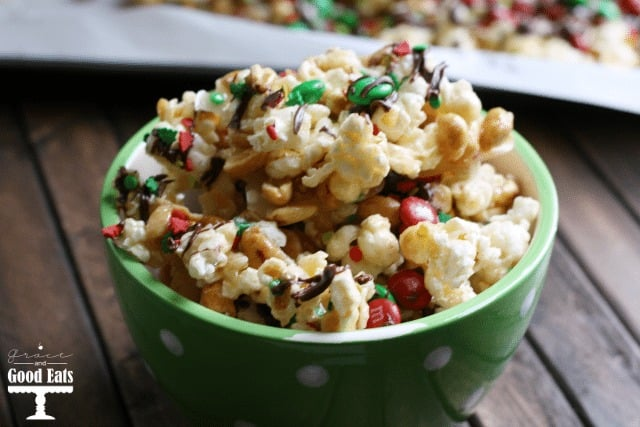 Sweet and Salty M&M Popcorn