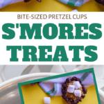 homemade smores pretzel cups for snack