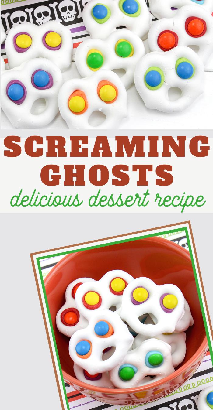 screaming ghosts pretzel candy recipe