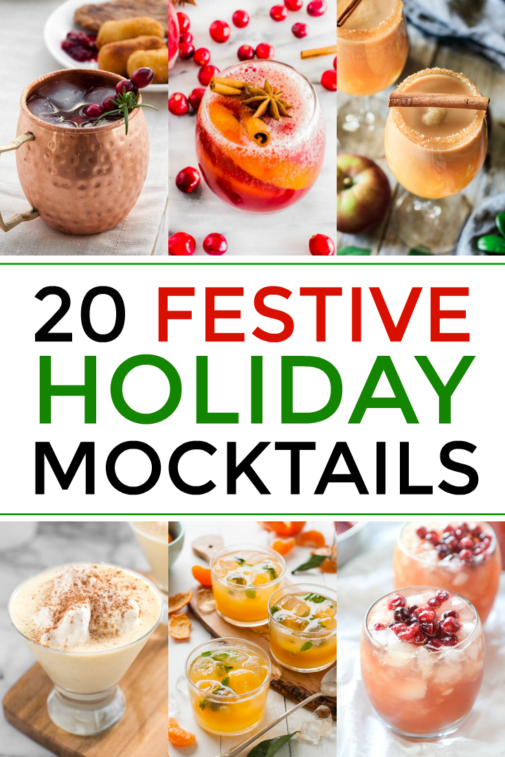 you and your kids will love these alcohol free drinks for Christmas