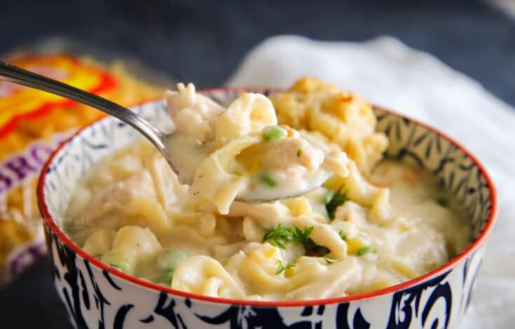 Chicken Pot Pie Noodle Soup