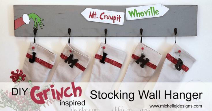 DIY Grinch Inspired Stocking Wall Hanger