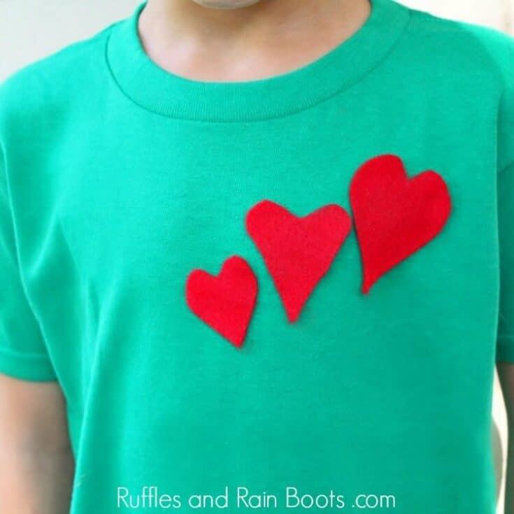 Heart T-Shirt Grinch Craft for Kids