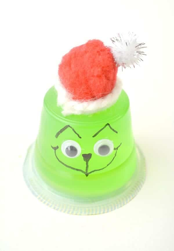 Grinch Jello Snack Cup