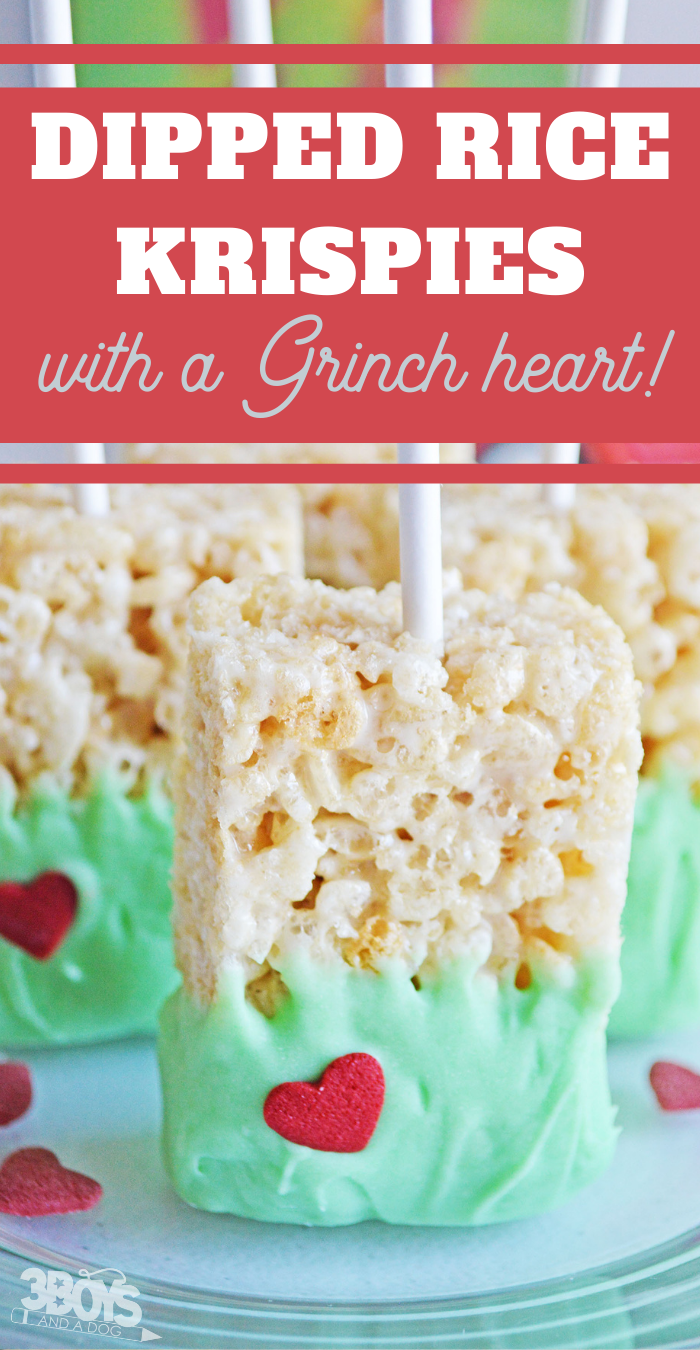 rice krispie treat dessert is great grinch party food idea