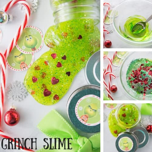Three Sizes Grinch Slime Recipe for Kids To Make This Christmas!