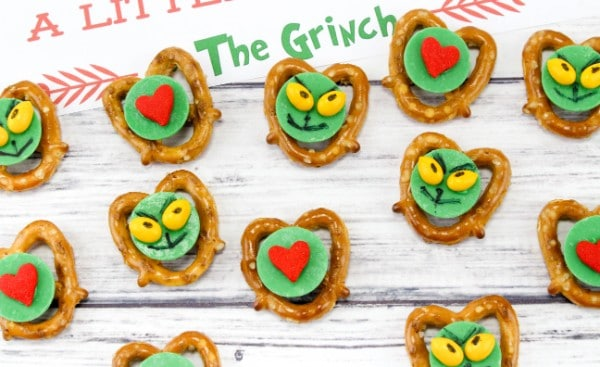 Grinch Pretzel Treats